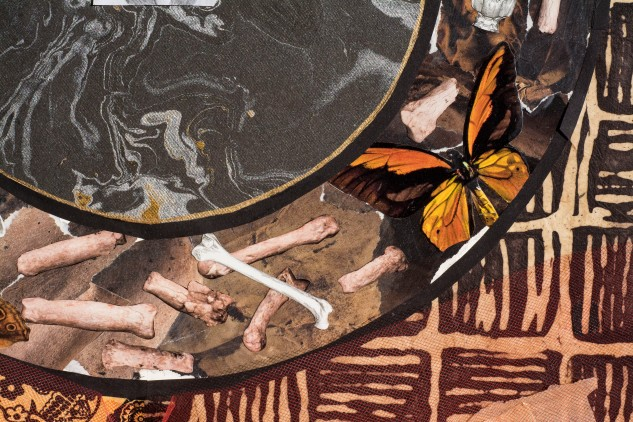 butterflies and bones, collage