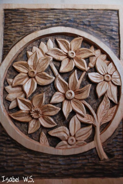 flowers-woodcarving