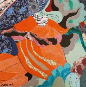 paper collage, abstract, colorful