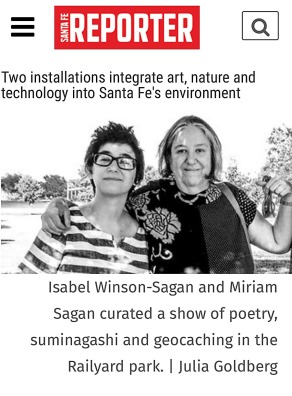 Santa Fe Reporter article on Miriam Sagan and Isabel Winson-Sagan