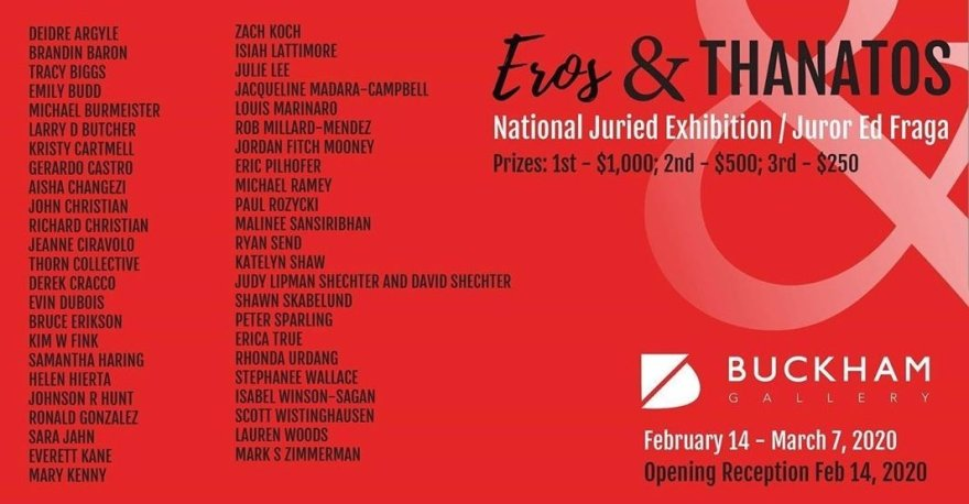 Eros and Thanatos, National Juried Exhibition at Buckham Gallery in Flint, Michigan