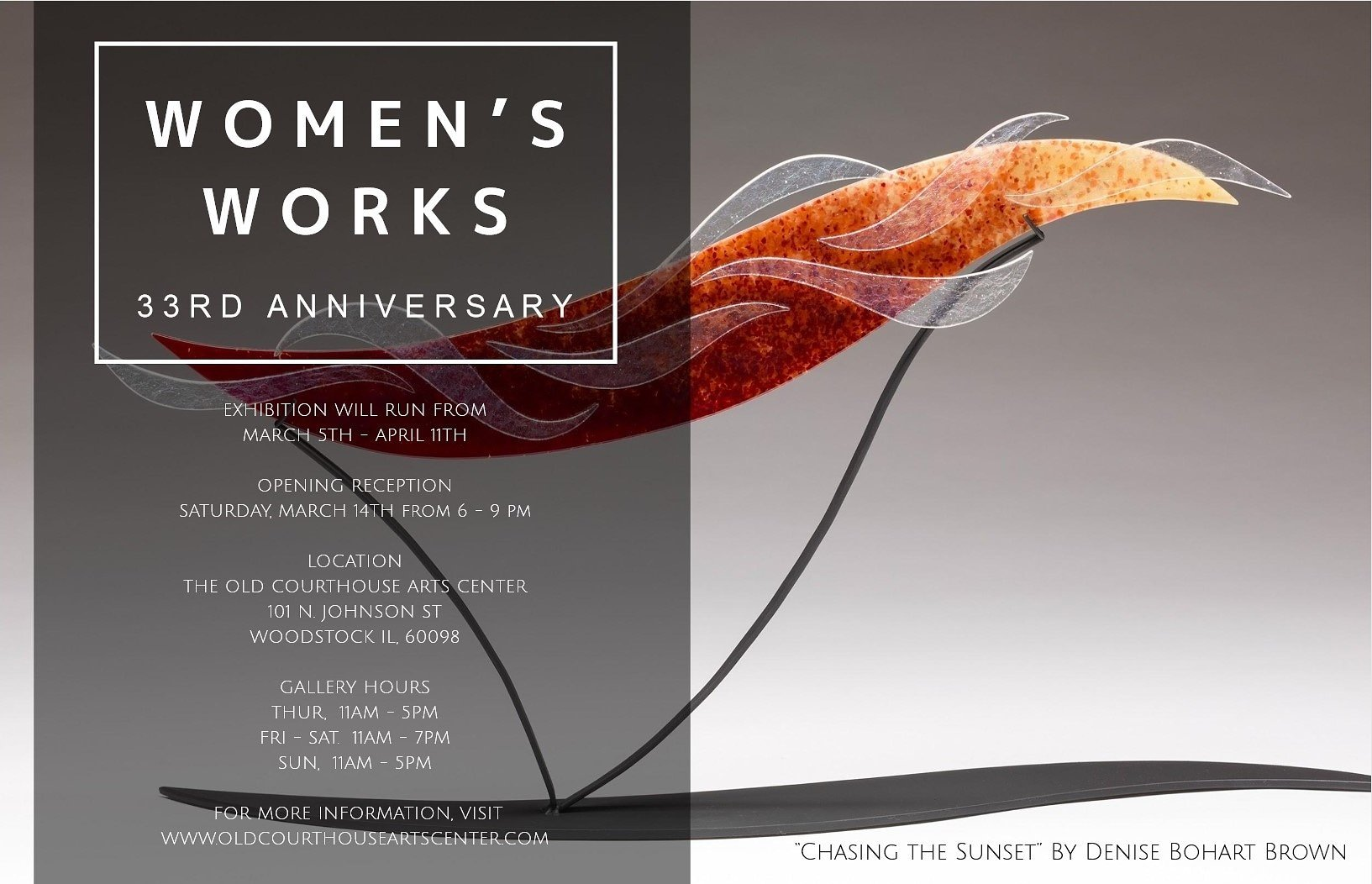 Women's Works Show 33rd anniversary at the Old Court House in Woodstock, IL