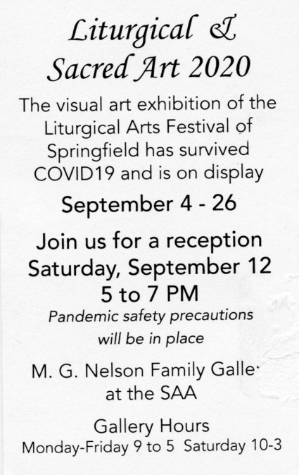 September 4th-26th at the M.G. Nelson Family Gallery at SAA Visual Arts Center